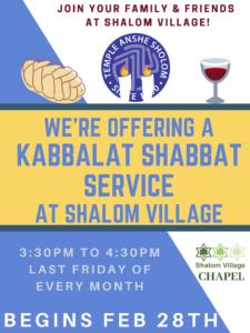 Kabbalat Shabbat Shalom Village